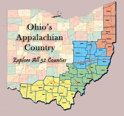 Geography Map Of Ohio.Ohio S Appalachian Country